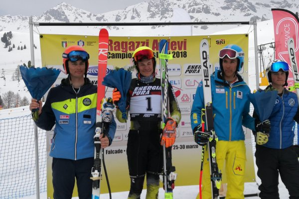 Part Max, 1. Platz Italienmeisterschaft SuperG, U16 Falcade