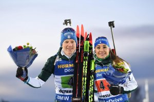 Biathlon-WM Oestersund, Single-Mixed-Staffel (Hofer, Wierer) - Foto: sportnews.bz